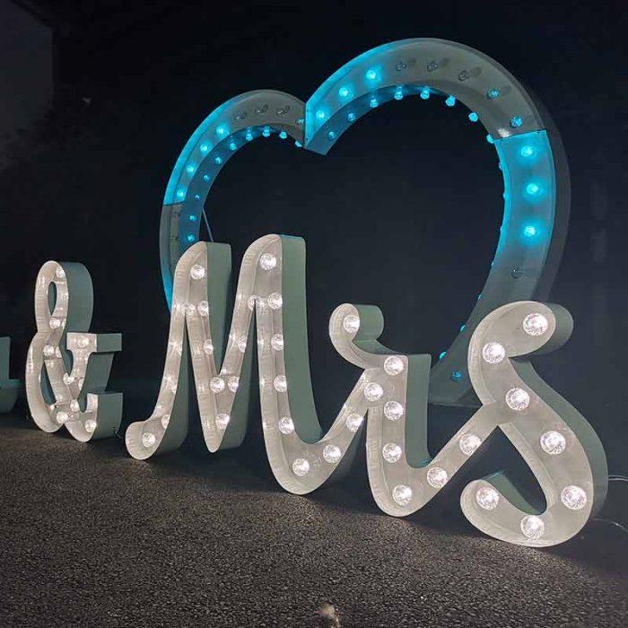 light up wedding arch
