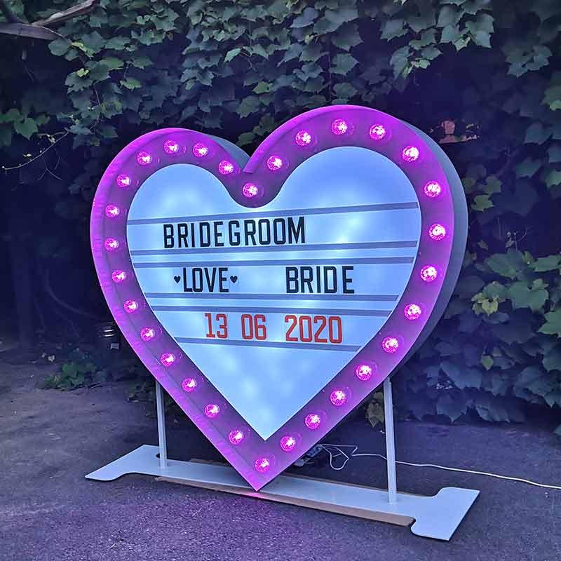 huge heart light box