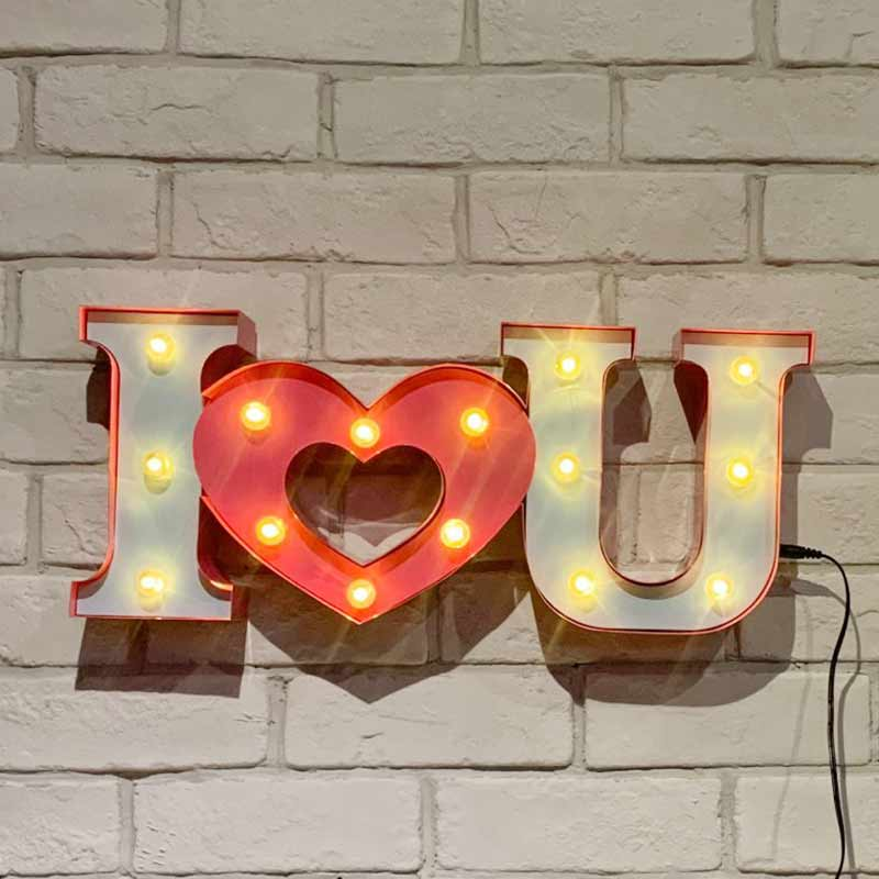 heart marquee