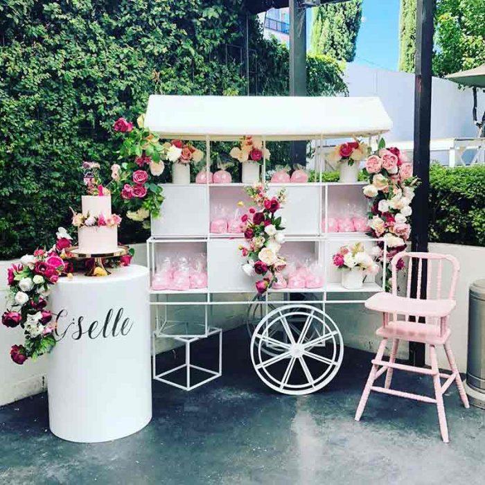 dessert cart display