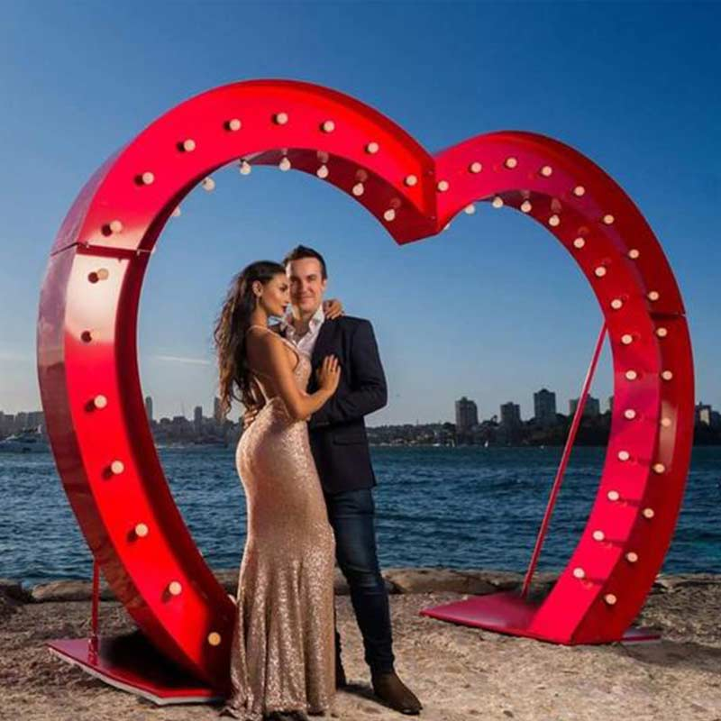 heart wedding arches
